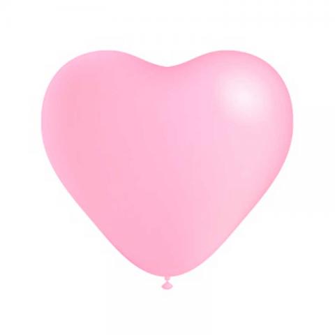 Ballon Cœur rose - 25 cm
