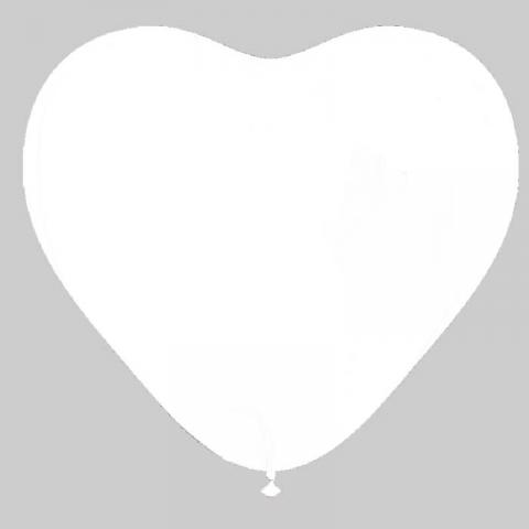Ballon Cœur blanc - 25 cm