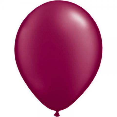 Ballon Nacré Bordeaux 28cm
