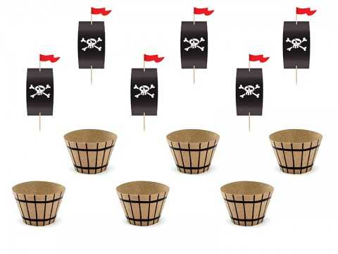Kit de 6 cupcakes Pirates