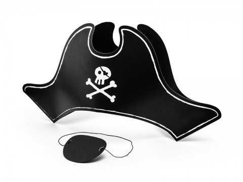 Chapeau et oeil de pirate