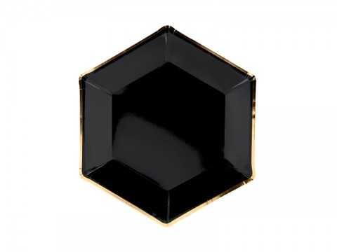 Pack 6 assiettes noir et or...