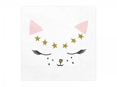 Pack de 20 serviettes Chat
