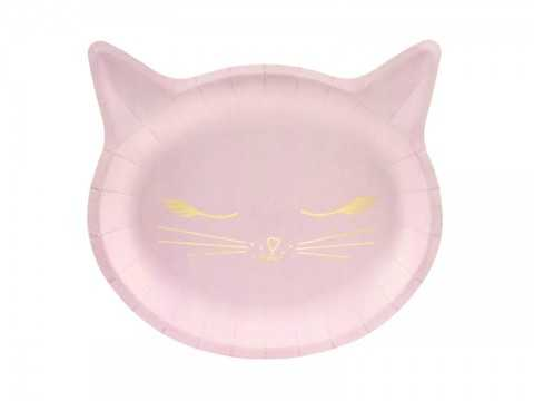 Pack de 6 assiettes Chat
