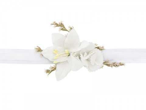 Bracelet corsage fleuri Blanc