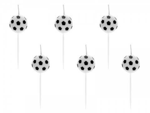 6 bougies ballon de foot