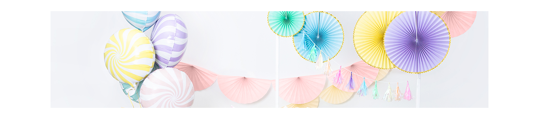 Pompons en papier, lampions pour décoration de chambre d'enfants et évènements.