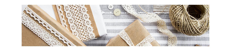 Rubans de satin et rubans dentelles pas cher pour décoration de mariage et papeterie