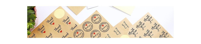 Stickers autocollants en kraft pour cadeaux, emballages, cadeaux invités mariage
