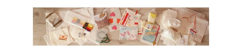 Sachets en papier blanc, sachets cristal, sachets en glassine et sachets alimentaires transparents.